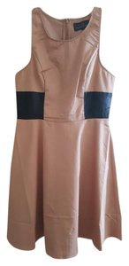 PJK Patterson J. Kincaid short dress nude Leather A-line on Tradesy
