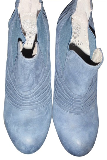 Vince Camuto Half Size 7 1/2 Light Gray High Heels Medium Blue Boots