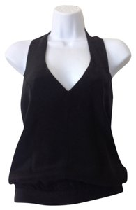 Chelsea Davis Silk Black Halter Top