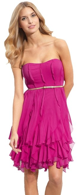 Preload https://img-static.tradesy.com/item/1166837/donna-morgan-pink-ruffled-silk-strapless-party-knee-length-cocktail-dress-size-16-xl-plus-0x-0-0-650-650.jpg