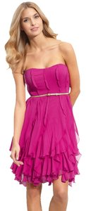 Donna Morgan Silk Strapless Marchesa Style Dress