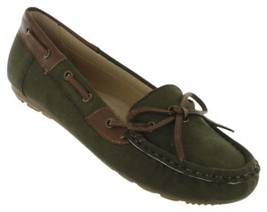 Red Circle Footwear Moccasin Flat Casual Olive Flats