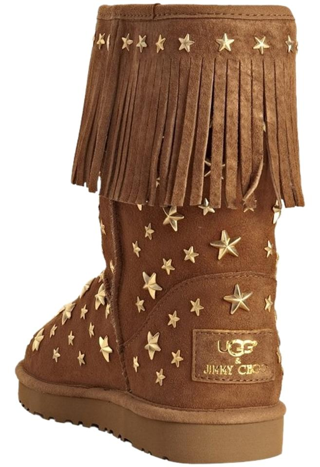 5026cf8fa9f Jimmy Choo Chestnut Box New In A Ugg Starlit Studded Fringe Limited Edition  Boots/Booties Size US 9 Regular (M, B) 51% off retail