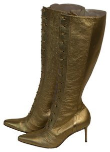 Dior Leather gold Boots
