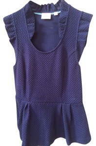 Anthropologie Top Royal Blue