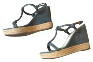 Prada Comfortable Avio Wedges