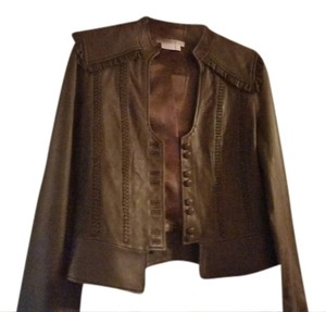 To the Max Brown Leather Jacket