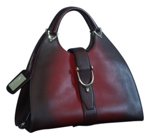 58360805294 Gucci Stirrup 1921 Ombre Ltd Ed Red Gradient Leather Hobo Bag - Tradesy