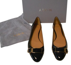 Aerin Apthorp Decorative Strap Detail Elegant Black Flats
