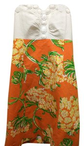 Lilly Pulitzer short dress White and orange on Tradesy