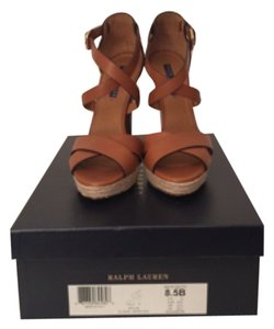 Ralph Lauren Brown Platforms