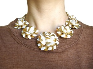 Kate Spade gold flower statement necklace