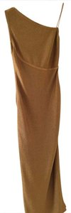 Carmen Marc Valvo Full Length One Side Zipper Dress