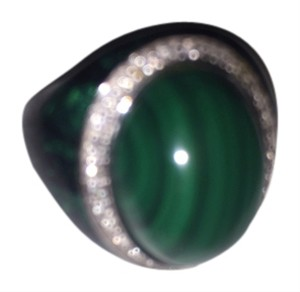 Black and green Onyx ring