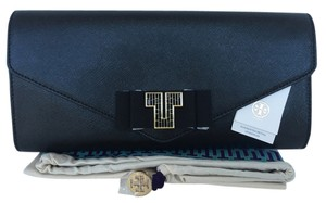 Tory Burch Evening Handbag Black Clutch