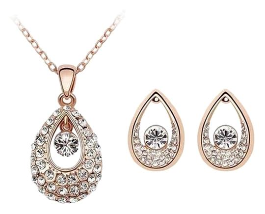 KATGI Fashion Austrian Crystal Angel Teardrop Pendant Necklace & Earrings (Set of 2) Image 0