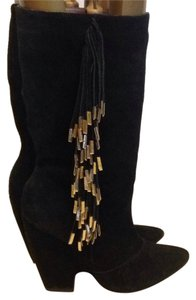 Madison Harding Black Suede Boots