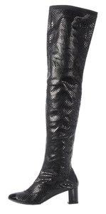 Chanel Ch.j1208.11 Black Snakeskin Boots
