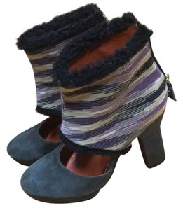 Missoni Gray, purple yellow black Platforms