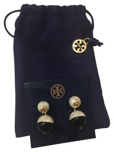 Tory Burch Dipped Evie Pearly Drop Earrings