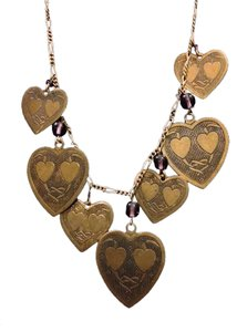 Piddly Links Vintage Love Necklace with 28 Hearts