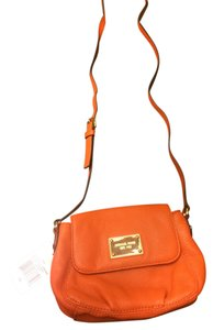 Michael Kors Gold Hardware Small Flap Genuine Pebbled Leather Brand New With Never Been Used Cross Body Bag