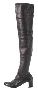 Chanel Ch.j1207.18 Black Leather Boots