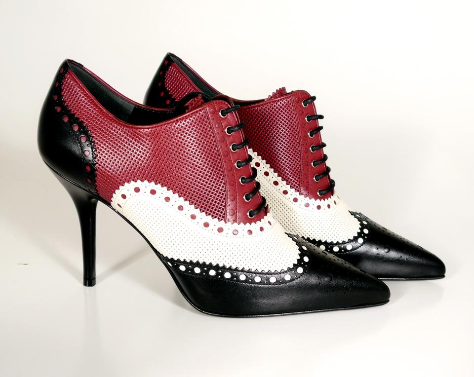 81b6a67af3057a Red White And Black Heels - Js Heel