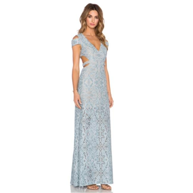 Item - Blue Ava Cutout Lace Gown Long Night Out Dress Size 4 (S)