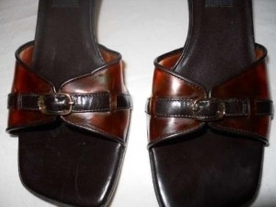 Vaneli Leather Slide Pbhc brown Sandals