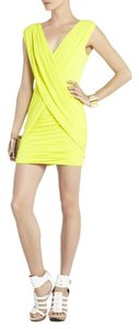 BCBGMAXAZRIA Mini Crisscross Strap Bodycon Dress