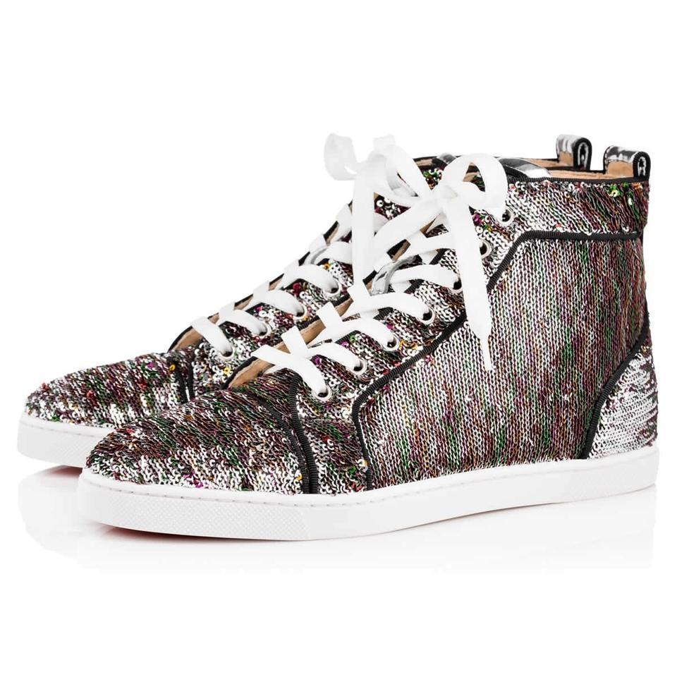 official photos 189fd f08df Christian Louboutin Multicolor Classic Mermaid Sequin Embellished Bip-bip  High Top Trainers Sneakers Size EU 37 (Approx. US 7) Regular (M, B)