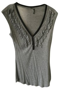 Guess Sleeveless Black Top Grey