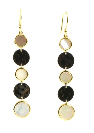 Ippolita IPPOLITA 18K YELLOW GOLD SILVER MOTHER OF PEARL NOTTE DROP EARRINGS Image 1