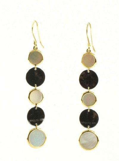 Ippolita IPPOLITA 18K YELLOW GOLD SILVER MOTHER OF PEARL NOTTE DROP EARRINGS Image 2