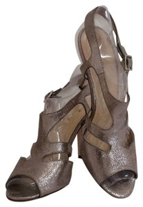Kate Spade Metallic Crackle Suede Anthracite Sandals
