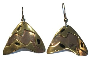 Mexican Artisan Copper and Brass Contemporary Earrings