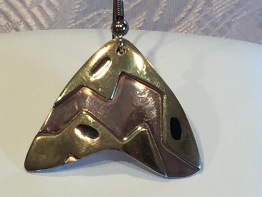 Other Mexican Artisan Copper and Brass Contemporary Earrings Image 2