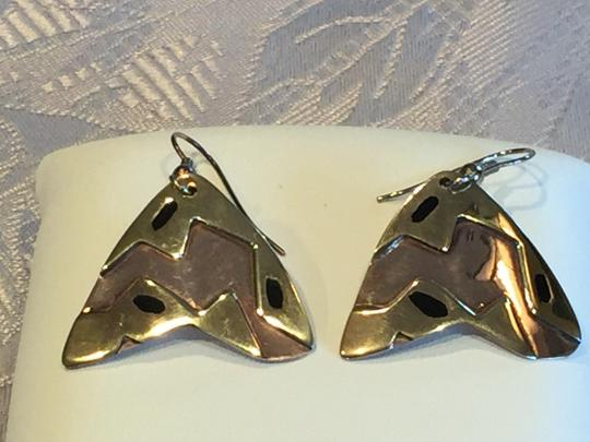 Other Mexican Artisan Copper and Brass Contemporary Earrings Image 3