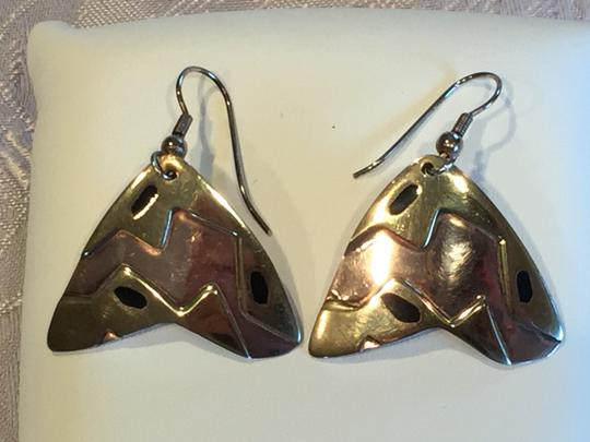 Other Mexican Artisan Copper and Brass Contemporary Earrings Image 4