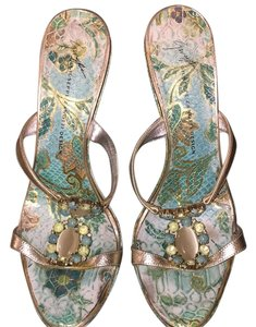 Giuseppe Zanotti Multi color with silver/teal green Sandals