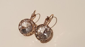 Beautiful Gold Plated Cz Earrings