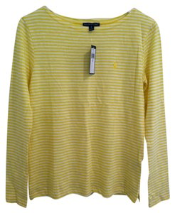 Ralph Lauren T Shirt Yellow White Stripe