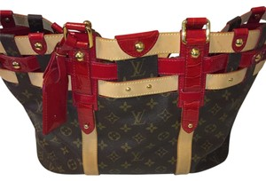 Louis Vuitton Limited Edition Tote in Mongram With Red