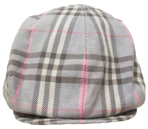 Burberry BURBERRY NOVACHECK PLAID COTTON FLANNEL BERET NEWSBOY HAT