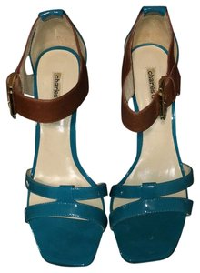 Charles David Turquoise/Brown Sandals