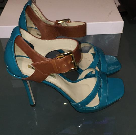 Charles David Turquoise/Brown Sandals Image 3