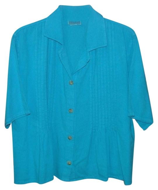 Preload https://item2.tradesy.com/images/blue-pin-tuck-heavy-cotton-guatemala-button-down-top-size-12-l-1167481-0-0.jpg?width=400&height=650