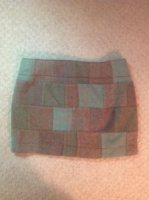 American Eagle Outfitters Mini Skirt Green, Brown