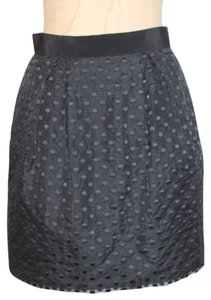 Club Monaco Evening Spot Ponte Mini Mini Skirt BLACK